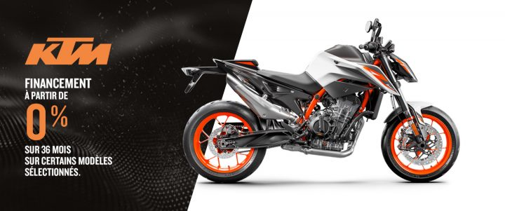 Prenez la route avec une moto KTM – Financement à partir de 0 % sur 36 mois