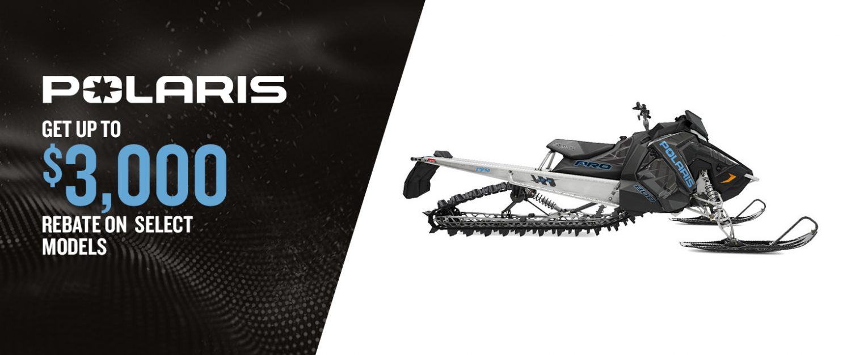 Polaris snowmobiles – Discount up to $3,000