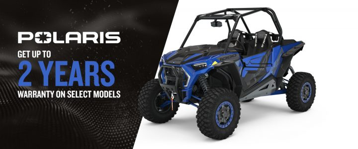 Polaris side-by-sides – Get up to 2 years warranty