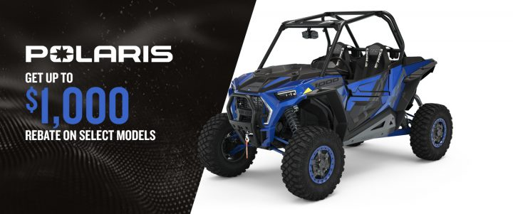 Polaris side-by-sides – Get up to a $1,000 in discount