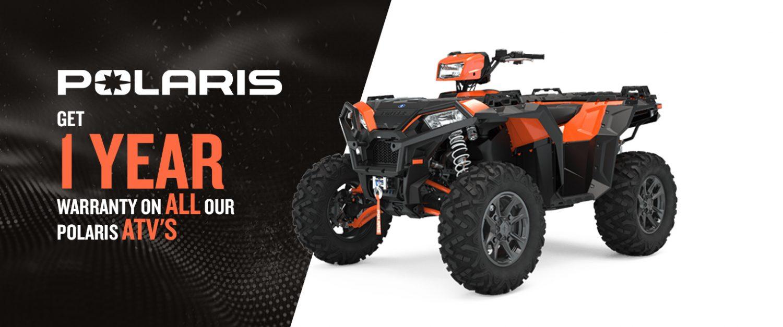 Polaris ATV – 1 YEAR Warranty