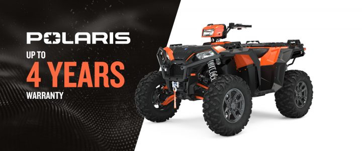 Polaris ATV – Warranty up to 4 YEARS