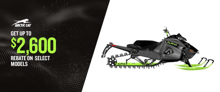 Arctic Cat – Get up to $2,600 rebate on select models
