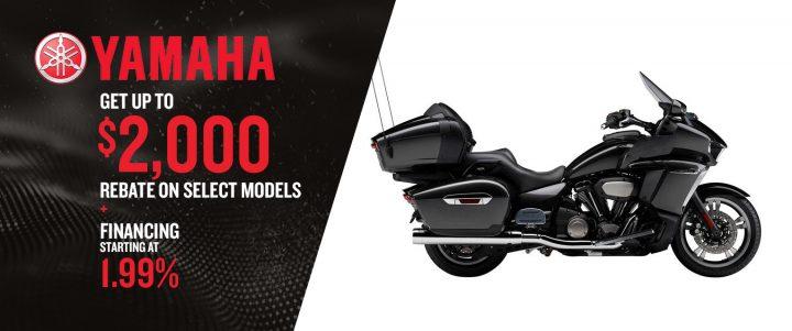 Get Up to $2,000 Rebate on Yamaha Select Models