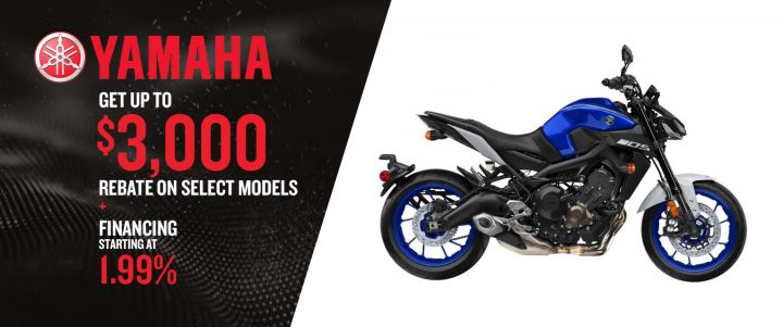Get Up to $3,000 Rebate on Yamaha Select Models