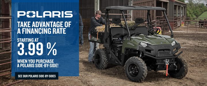 Polaris side-by-sides – Financing rate starting at 3.99%