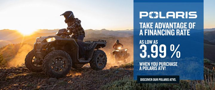 Polaris ATVs – Financing rate of 3.99%