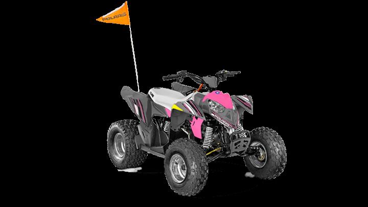 Polaris Outlaw 110 EFI Avalanche Gray/Pink Power 2022